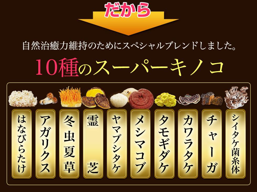 7種のスーパーキノコ