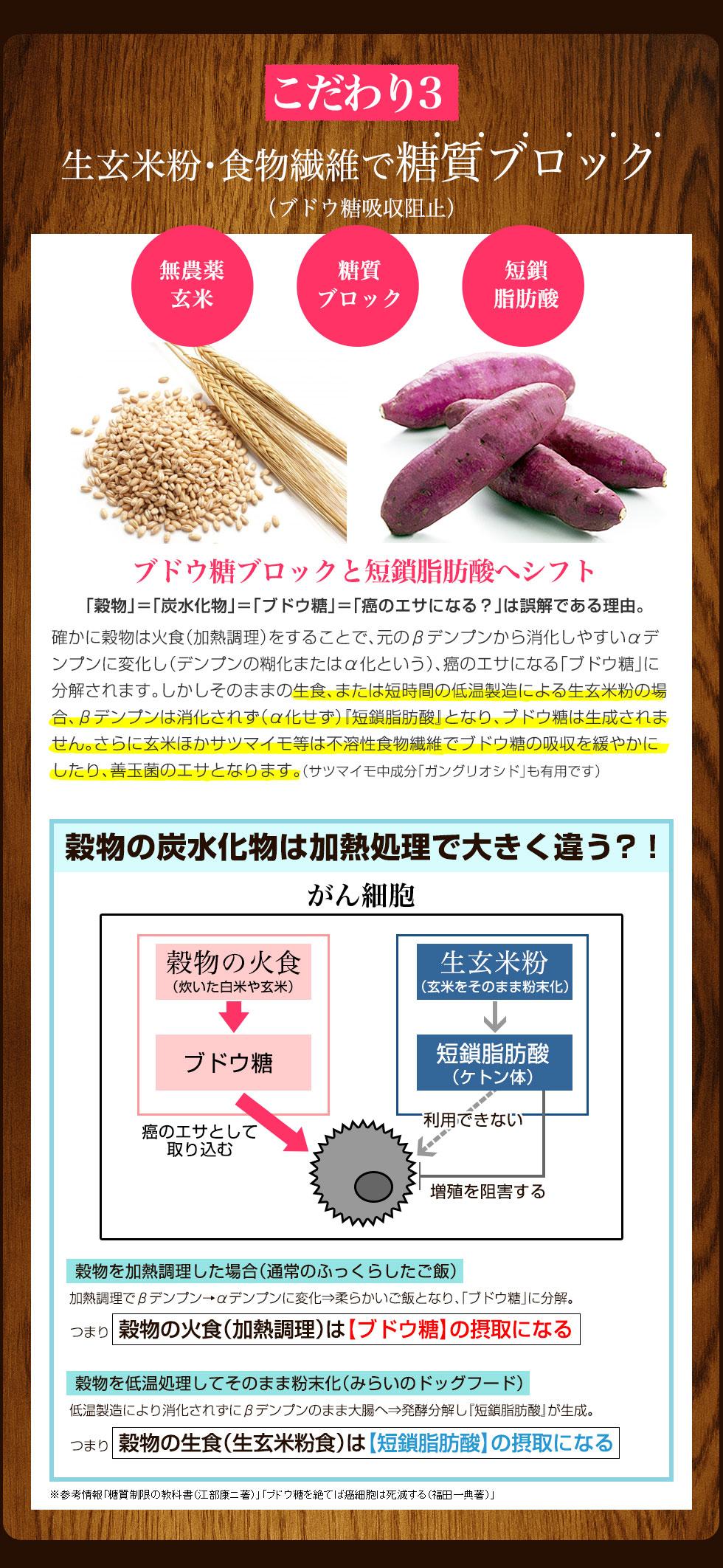 良質で適量な炭水化物と食物繊維