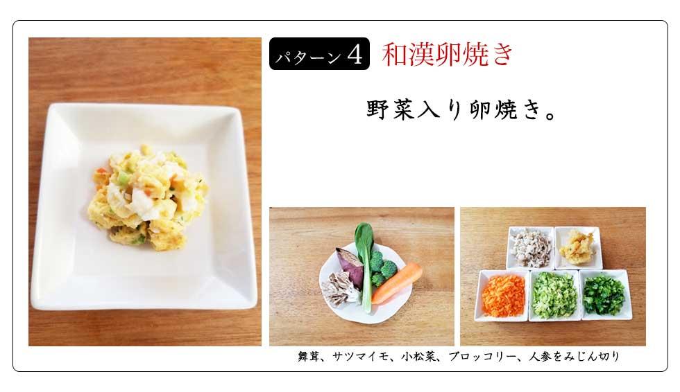 パターン4 和漢卵焼き 野菜入り卵焼き。
