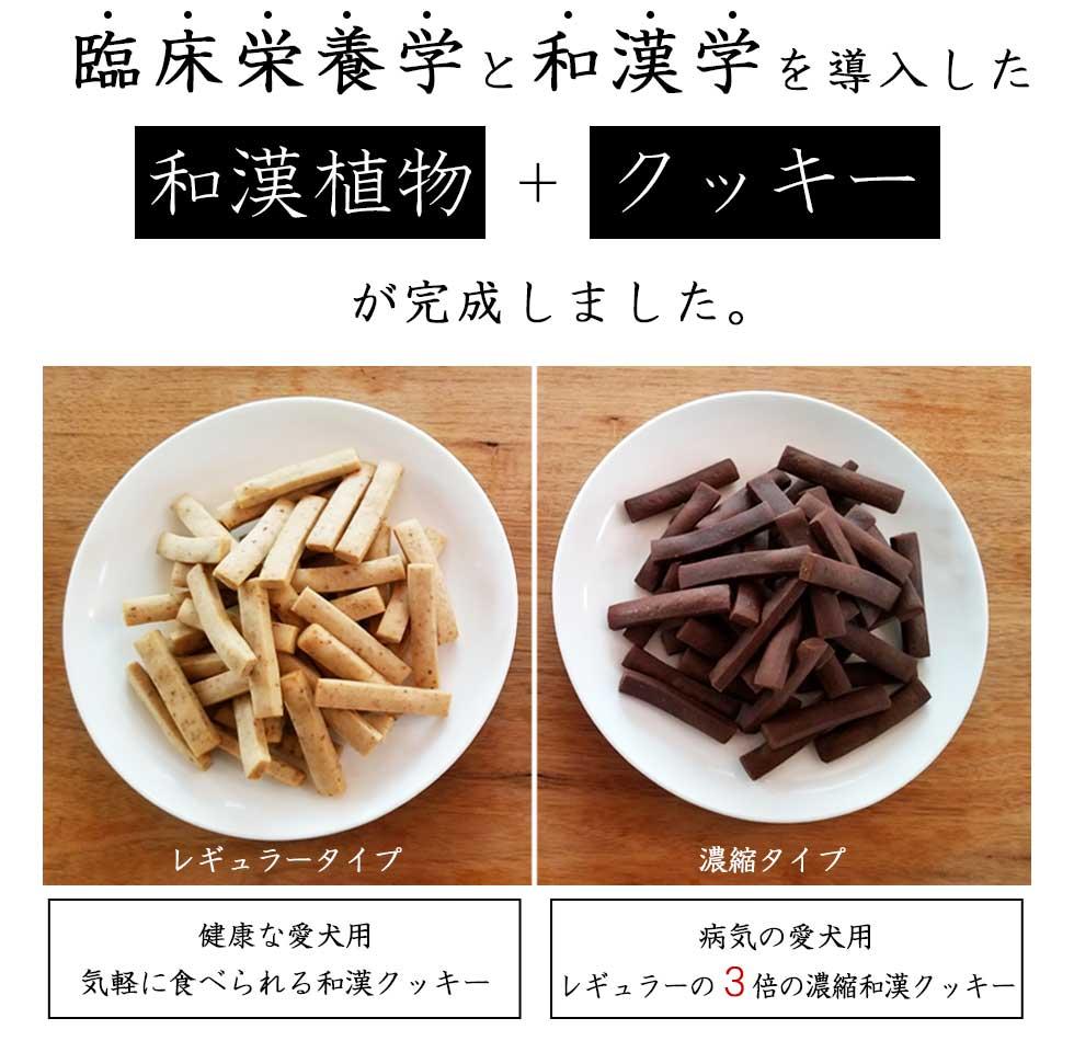 臨床栄養学と漢方学を導入 和漢+クッキーが完成